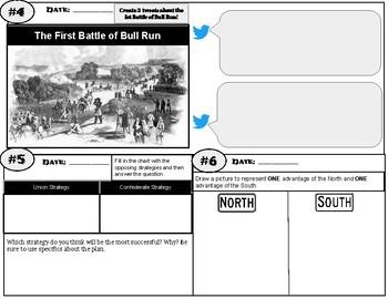 Civil War Exit Tickets