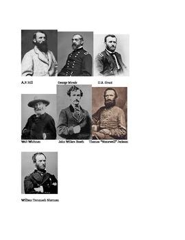 Civil War Faces - Description Assignment