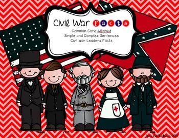Civil War Fact FREEBIE: Simple vs. Complex Sentences, Fluency