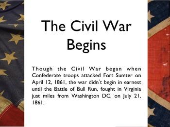 Civil War - First Battle Of Bull Run PowerPoint