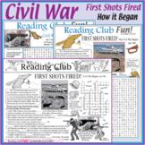 Civil War - First Shots Fired at Fort Sumter – Activity Set