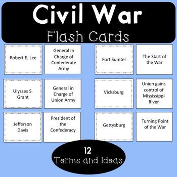 Civil War Flash Cards