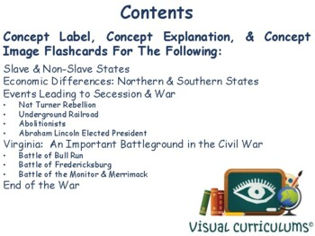 Civil War Flashcards - task cards, study guide, state exam prep 2017 2018 update