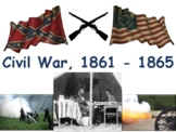 Civil War Flashcards - task cards, study guide, state exam prep 2018 2019 update