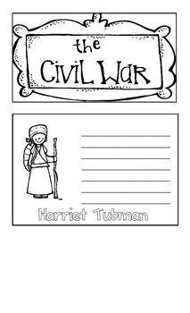 Civil War Flip Book - Domain 9 CKLA (Core Knowledge)