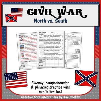 Civil War Fluency - NORTH vs SOUTH