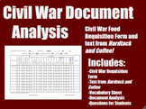 Civil War Food Document Analysis