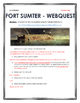 Civil War - Fort Sumter - Webquest with Key