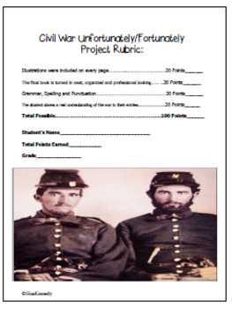"Civil War Project ""Fortunately & Unfortunately Book"""