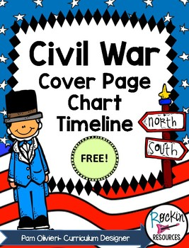 Civil War Timeline, Cover Page and Chart Free