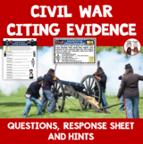 Civil War Activity Citing Evidence Free