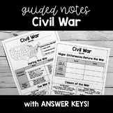 Civil War SOCIAL STUDIES GUIDED NOTES