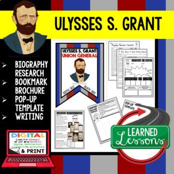 Civil War Generals Biography Research, Bookmark Brochure, Pop-Up, Writing