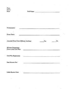 Civil War Generals Study Book
