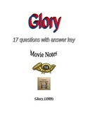 Civil War: Glory Movie Questions and  Answer Key - 54th Ma