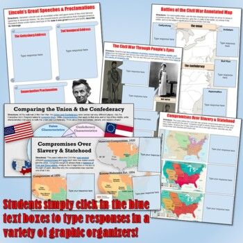 Civil War Google Drive Interactive Notebook