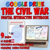 Civil War Google Drive Interactive Notebook for Distance Learning