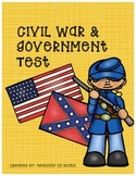 Civil War & Government Test