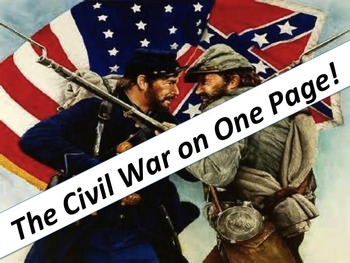 Civil War Graphic Organizer:  The War on One Page (with an