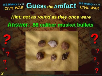 "Civil War ""Guess the Artifact"" game with pictures & clues (9 of 10)"