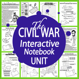Civil War Interactive Notebook (HARD COPY) 13 Slavery & Civil War Lessons