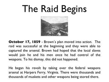 Civil War - Harpers Ferry Raid PowerPoint