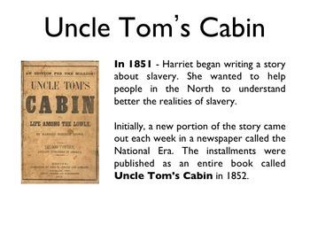 Civil War - Harriet Beecher Stowe PowerPoint