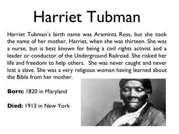 Civil War - Harriet Tubman PowerPoint