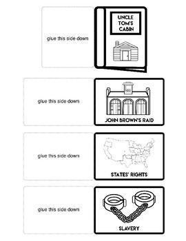 Civil War History Comprehensive Lapbook Foldable Printout