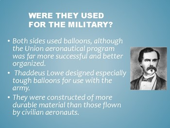 Civil War Hot Air Balloons Lesson (science and social studies)