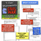 """Civil War """"I Can"""" Statements & Learning Goals! Posters and Log for Civil War!"""