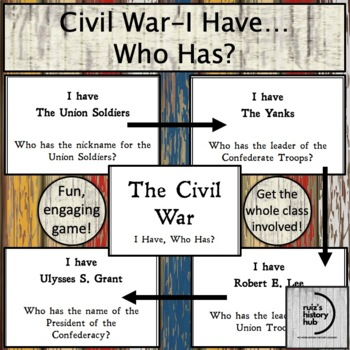 Civil War I Have Who Has Review Game