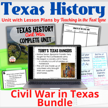 Civil War IN TEXAS Bundle with Lesson Plans