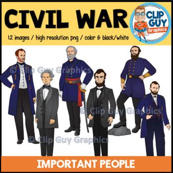 Civil War Important People Clip Art Bundle {Clip Guy Graphics ClipArt}