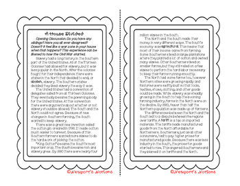 Social Studies Interactive Notebook: Civil War