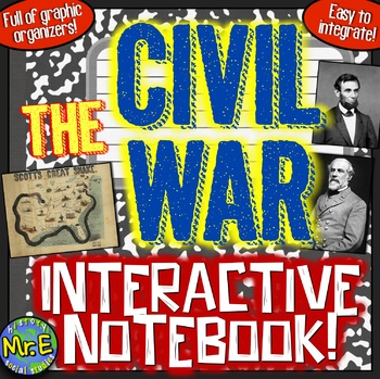 Civil War Interactive Notebook! Engaging Resource on the A