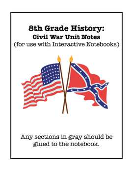 Civil War Interactive Notebook Foldable Files