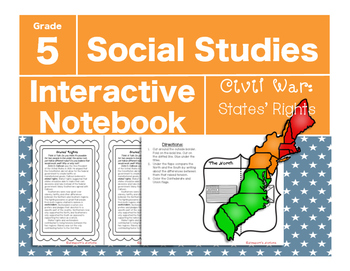 Civil War Interactive Notebook-States' Rights