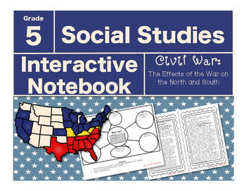 Civil War Interactive Notebook-The Effects of the War on the North and South