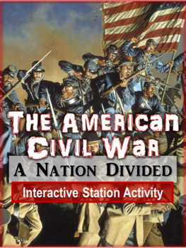 Civil War Virtual Museum: 7 Interactive Stations, Clear Instructions, Editable