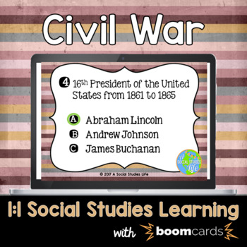 Civil War Interactive Task Cards