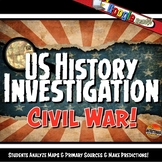Civil War Investigation History Lesson Stations Activity &