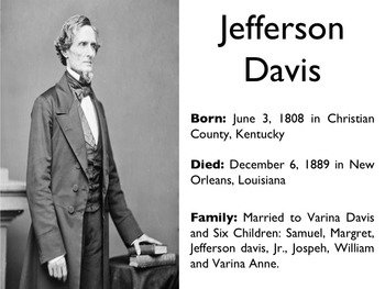 Civil War - Jefferson Davis PowerPoint