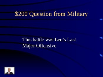 Civil War Jeopardy