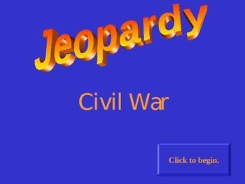 Civil War Jeopardy Game
