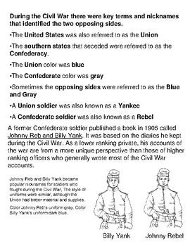 Civil War: Key Terms