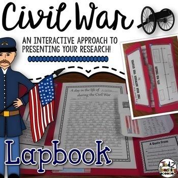 Civil War Research Report Lapbook