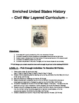 Civil War Layered Curriculum