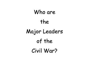 Civil War Leaders Project