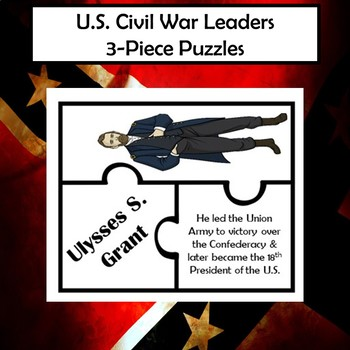 Civil War Leaders Vocabulary Puzzle